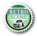 Retro TAX DISC Replacement Design With Koolart Mk2 Ford Cortina External Vinyl Car Sticker 75x75mm
